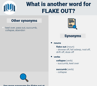 flake out, synonym flake out, another word for flake out, words like flake out, thesaurus flake out