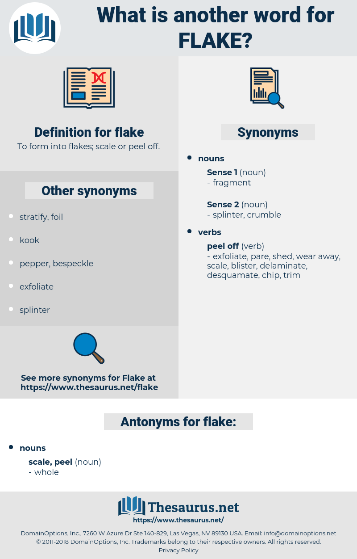 flake, synonym flake, another word for flake, words like flake, thesaurus flake
