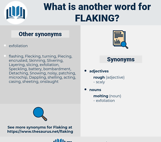 Flaking, synonym Flaking, another word for Flaking, words like Flaking, thesaurus Flaking