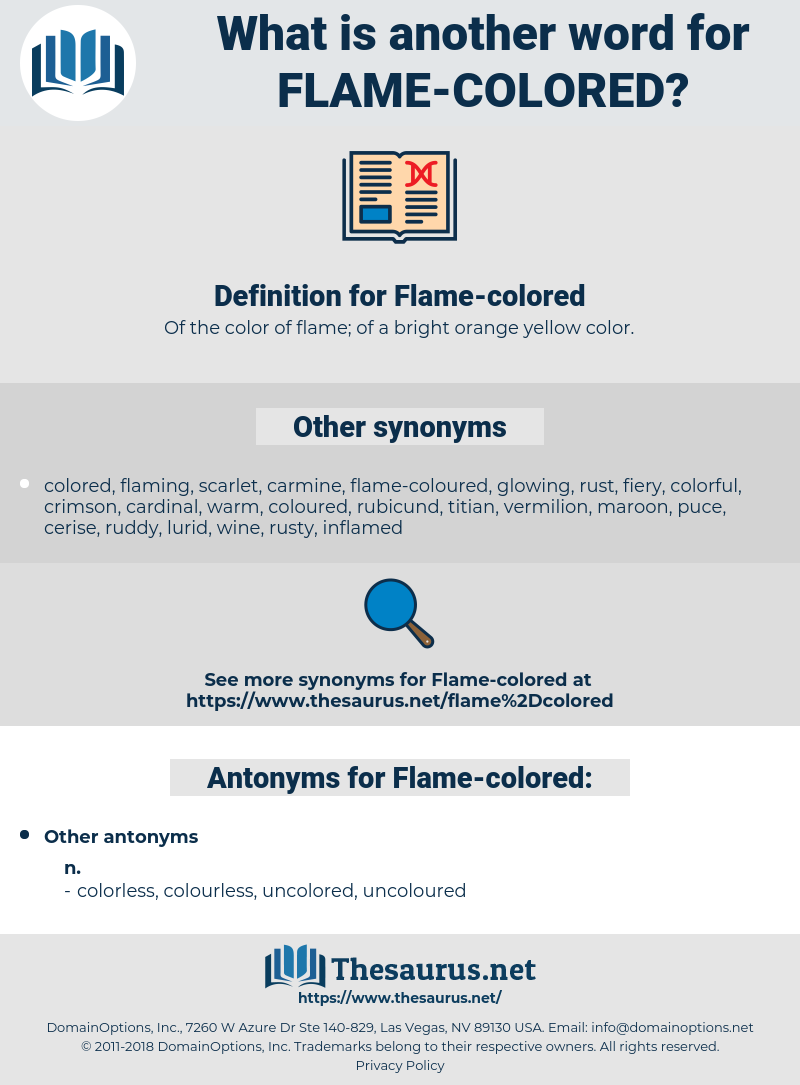 Flame-colored, synonym Flame-colored, another word for Flame-colored, words like Flame-colored, thesaurus Flame-colored