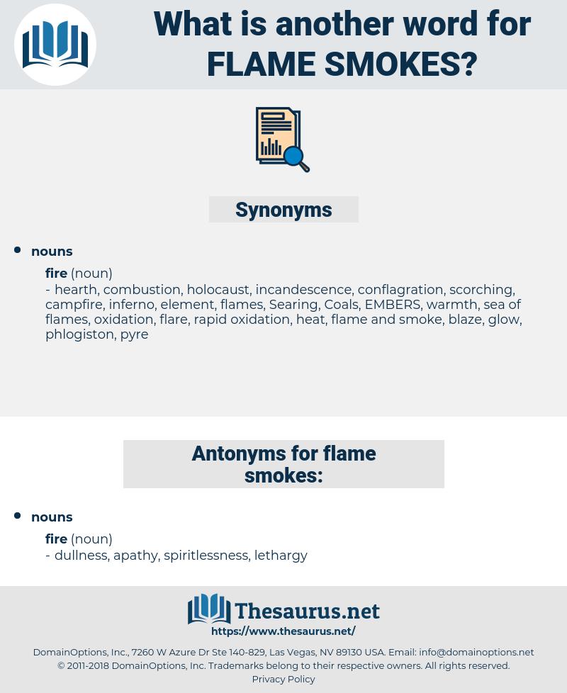 flame smokes, synonym flame smokes, another word for flame smokes, words like flame smokes, thesaurus flame smokes
