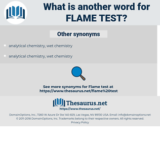 flame test, synonym flame test, another word for flame test, words like flame test, thesaurus flame test