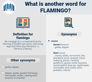 flamingo, synonym flamingo, another word for flamingo, words like flamingo, thesaurus flamingo