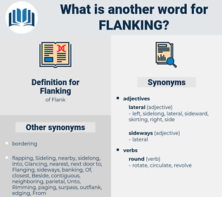 Flanking, synonym Flanking, another word for Flanking, words like Flanking, thesaurus Flanking