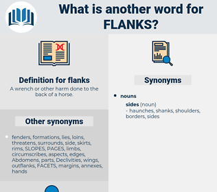flanks, synonym flanks, another word for flanks, words like flanks, thesaurus flanks