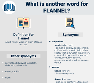 flannel, synonym flannel, another word for flannel, words like flannel, thesaurus flannel