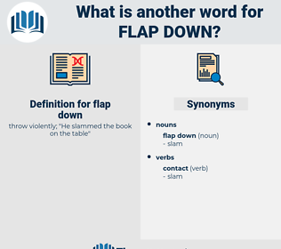 flap down, synonym flap down, another word for flap down, words like flap down, thesaurus flap down