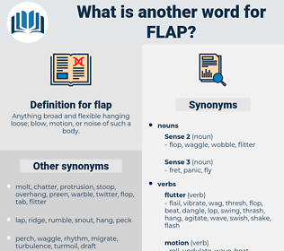 flap, synonym flap, another word for flap, words like flap, thesaurus flap