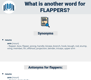 flappers, synonym flappers, another word for flappers, words like flappers, thesaurus flappers