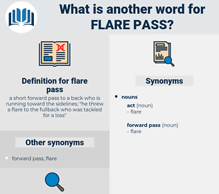 flare pass, synonym flare pass, another word for flare pass, words like flare pass, thesaurus flare pass