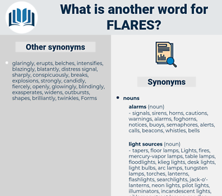flares, synonym flares, another word for flares, words like flares, thesaurus flares