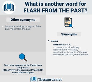flash from the past, synonym flash from the past, another word for flash from the past, words like flash from the past, thesaurus flash from the past