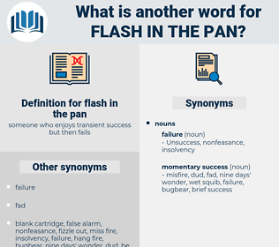 flash in the pan, synonym flash in the pan, another word for flash in the pan, words like flash in the pan, thesaurus flash in the pan