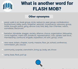 flash mob, synonym flash mob, another word for flash mob, words like flash mob, thesaurus flash mob