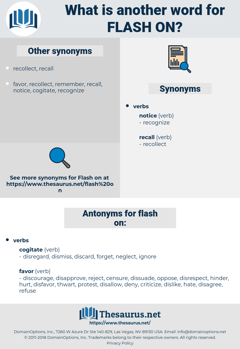 flash on, synonym flash on, another word for flash on, words like flash on, thesaurus flash on