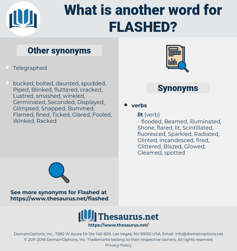 Flashed, synonym Flashed, another word for Flashed, words like Flashed, thesaurus Flashed