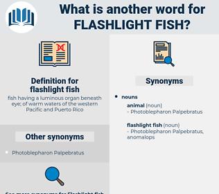 flashlight fish, synonym flashlight fish, another word for flashlight fish, words like flashlight fish, thesaurus flashlight fish