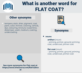 flat coat, synonym flat coat, another word for flat coat, words like flat coat, thesaurus flat coat