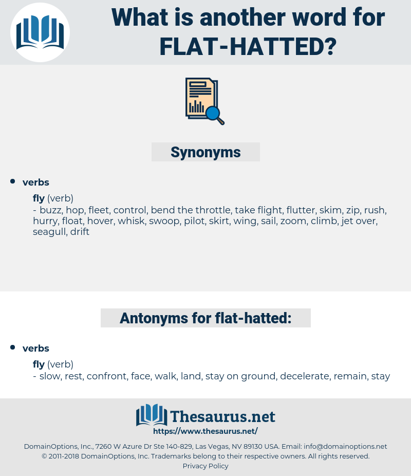 flat hatted, synonym flat hatted, another word for flat hatted, words like flat hatted, thesaurus flat hatted