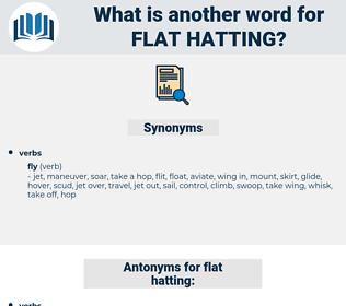flat hatting, synonym flat hatting, another word for flat hatting, words like flat hatting, thesaurus flat hatting