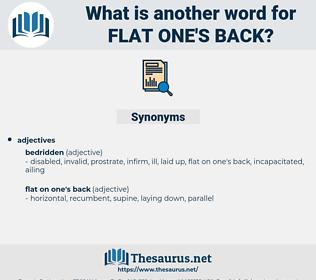 flat one's back, synonym flat one's back, another word for flat one's back, words like flat one's back, thesaurus flat one's back