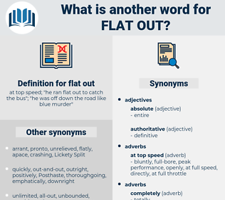flat out, synonym flat out, another word for flat out, words like flat out, thesaurus flat out