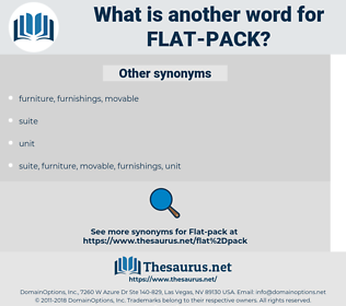 flat-pack, synonym flat-pack, another word for flat-pack, words like flat-pack, thesaurus flat-pack