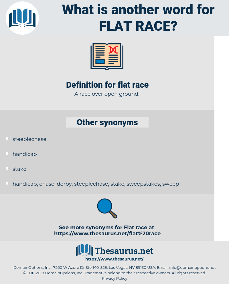 flat race, synonym flat race, another word for flat race, words like flat race, thesaurus flat race