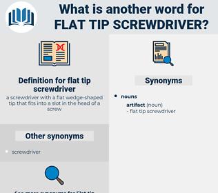 flat tip screwdriver, synonym flat tip screwdriver, another word for flat tip screwdriver, words like flat tip screwdriver, thesaurus flat tip screwdriver