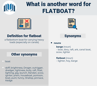 flatboat, synonym flatboat, another word for flatboat, words like flatboat, thesaurus flatboat