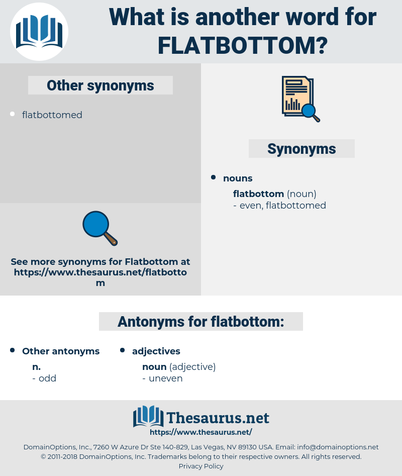 flatbottom, synonym flatbottom, another word for flatbottom, words like flatbottom, thesaurus flatbottom