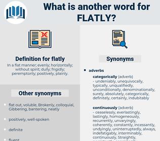 flatly, synonym flatly, another word for flatly, words like flatly, thesaurus flatly