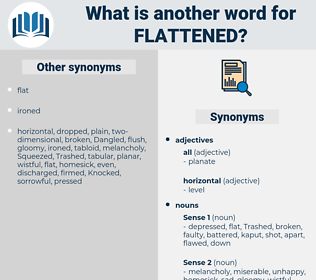 flattened, synonym flattened, another word for flattened, words like flattened, thesaurus flattened