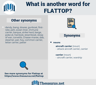 flattop, synonym flattop, another word for flattop, words like flattop, thesaurus flattop