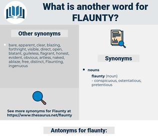 flaunty, synonym flaunty, another word for flaunty, words like flaunty, thesaurus flaunty