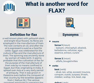 flax, synonym flax, another word for flax, words like flax, thesaurus flax