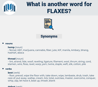 flaxes, synonym flaxes, another word for flaxes, words like flaxes, thesaurus flaxes