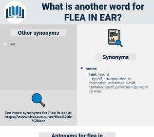flea in ear, synonym flea in ear, another word for flea in ear, words like flea in ear, thesaurus flea in ear