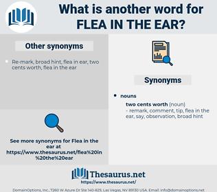 flea in the ear, synonym flea in the ear, another word for flea in the ear, words like flea in the ear, thesaurus flea in the ear