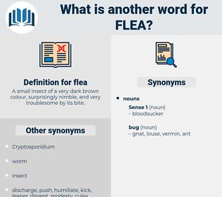 flea, synonym flea, another word for flea, words like flea, thesaurus flea