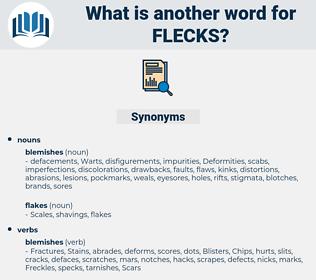flecks, synonym flecks, another word for flecks, words like flecks, thesaurus flecks