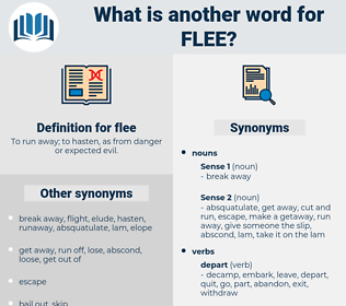 flee, synonym flee, another word for flee, words like flee, thesaurus flee