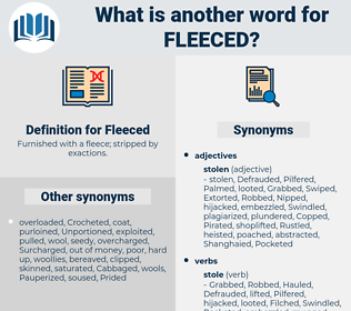 Fleeced, synonym Fleeced, another word for Fleeced, words like Fleeced, thesaurus Fleeced