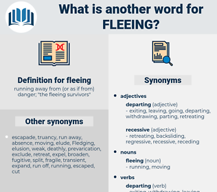 fleeing, synonym fleeing, another word for fleeing, words like fleeing, thesaurus fleeing
