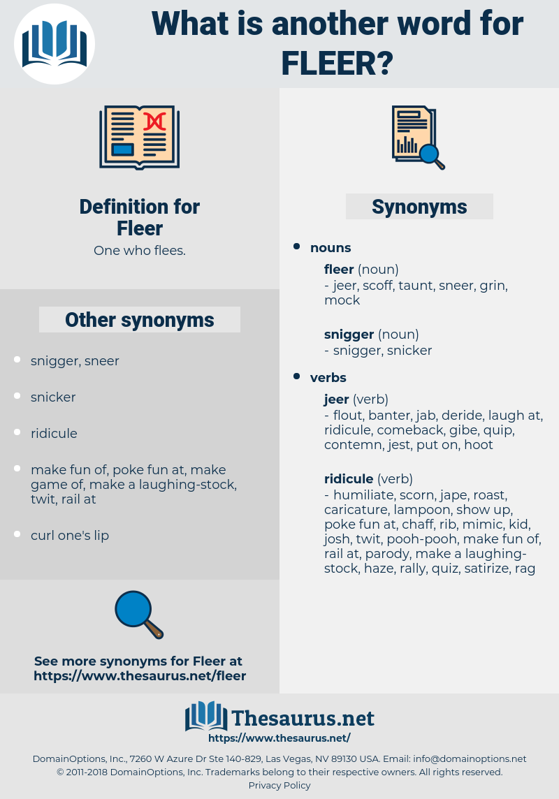 Fleer, synonym Fleer, another word for Fleer, words like Fleer, thesaurus Fleer