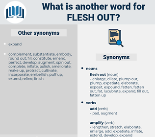 flesh out, synonym flesh out, another word for flesh out, words like flesh out, thesaurus flesh out