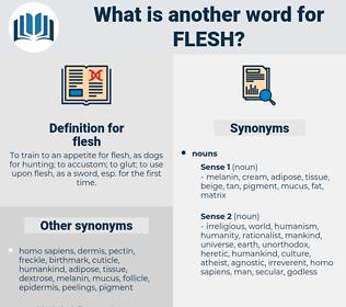 flesh, synonym flesh, another word for flesh, words like flesh, thesaurus flesh
