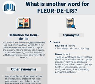 fleur-de-lis, synonym fleur-de-lis, another word for fleur-de-lis, words like fleur-de-lis, thesaurus fleur-de-lis