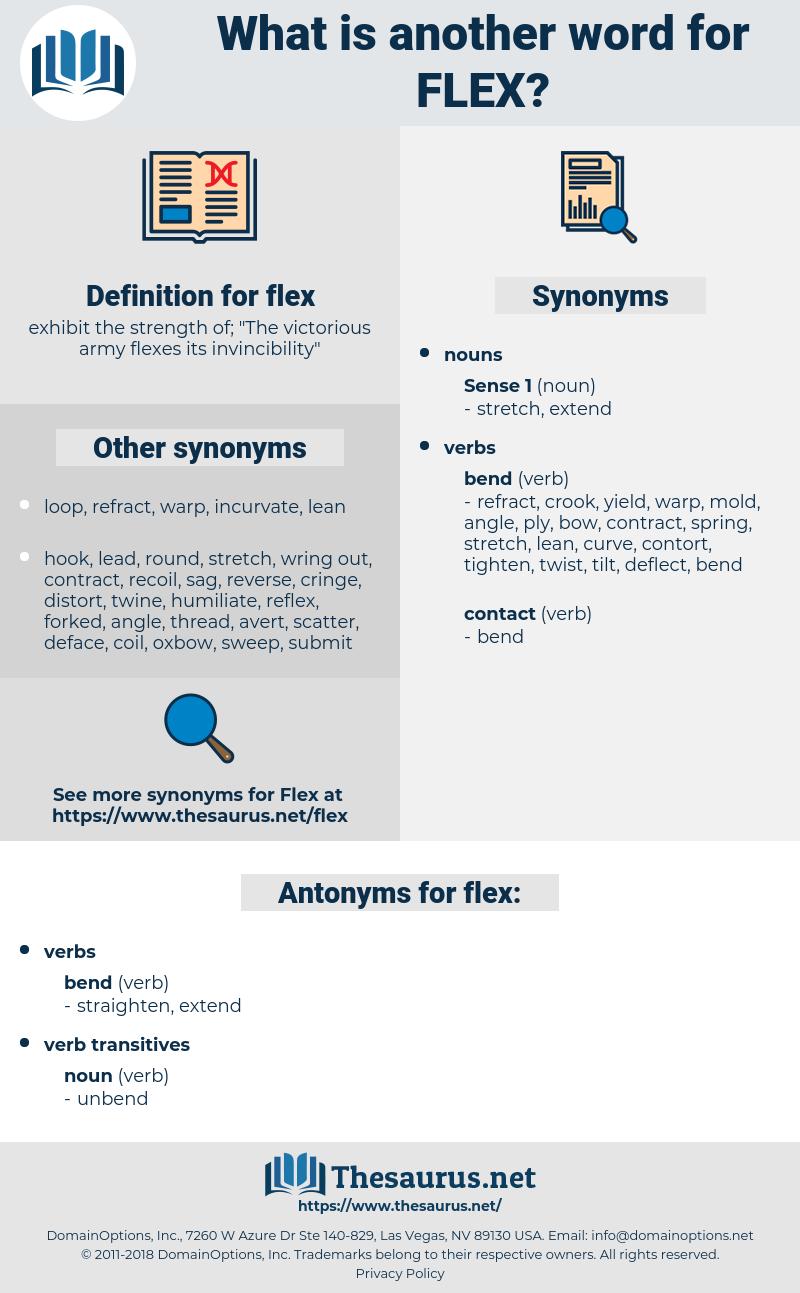 flex, synonym flex, another word for flex, words like flex, thesaurus flex