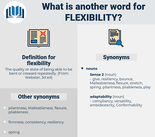 flexibility, synonym flexibility, another word for flexibility, words like flexibility, thesaurus flexibility